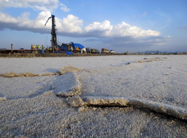 Kenya Lake Magadi Drilling