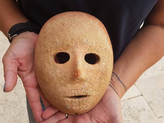 Neolithic stone mask