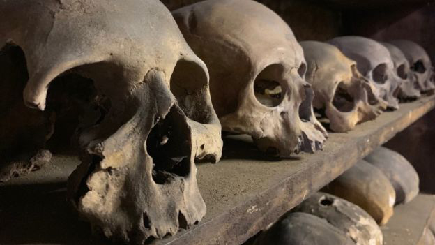 Skulls Stored In Medieval Crypt Examined - Archaeology Magazine