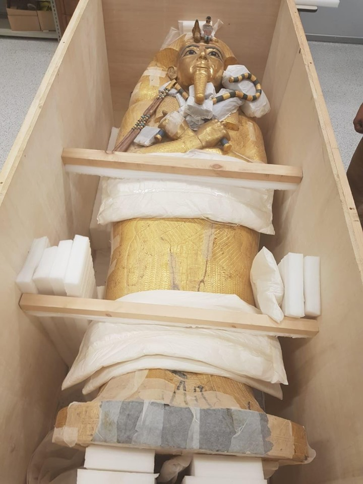 Restoration of King Tut's Large Golden Coffin Begins - Archaeology Magazine
