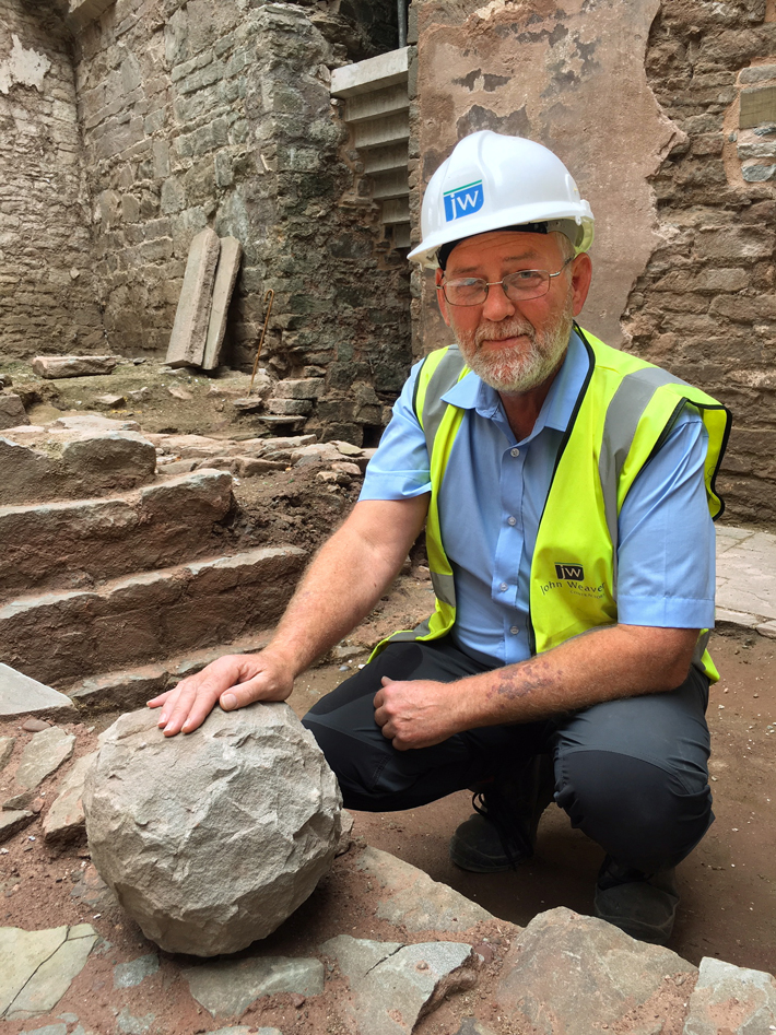 Catapult Stone Found in Welsh Castle - Archaeology Magazine