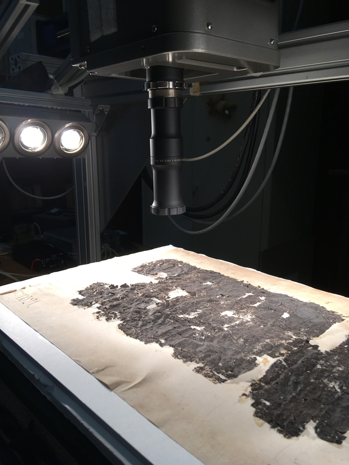 Infrared Imaging Reveals Hidden Words on Ancient Scroll - Archaeology Magazine