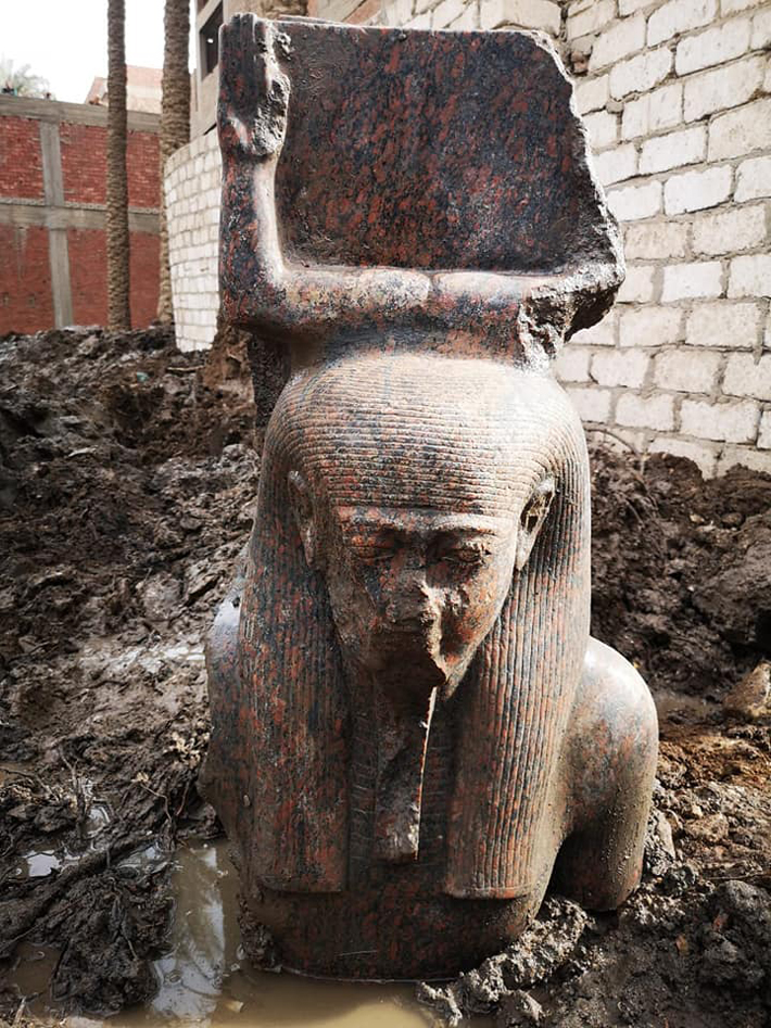 Red Granite Bust of Ramesses II Unearthed in Giza - Archaeology Magazine