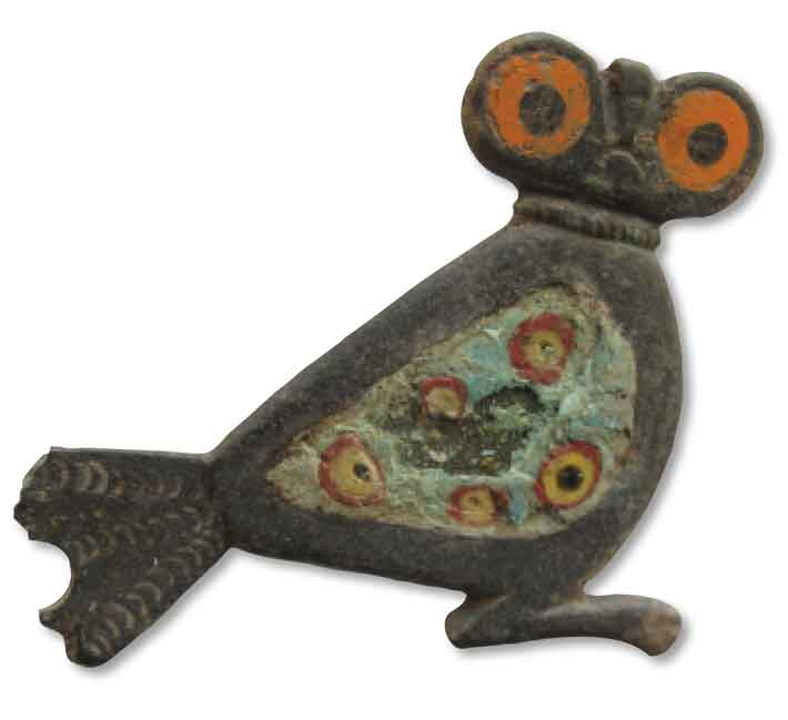 Trenches Danish Roman Owl Brooch