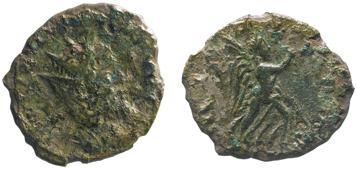 Artifact Gallic Laelianus Coin
