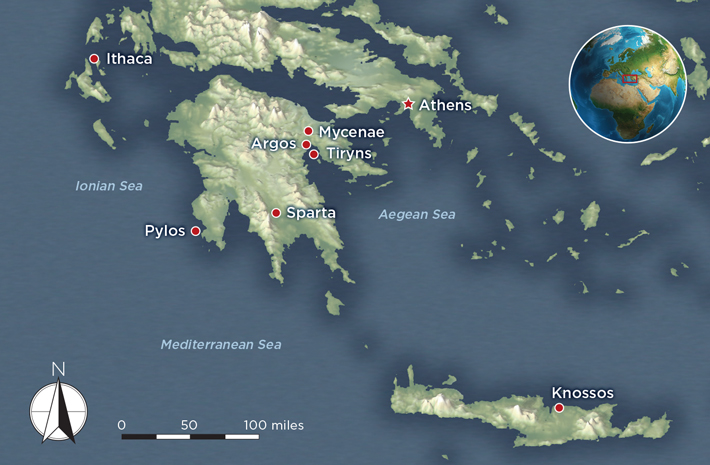 Pylos Greece Map