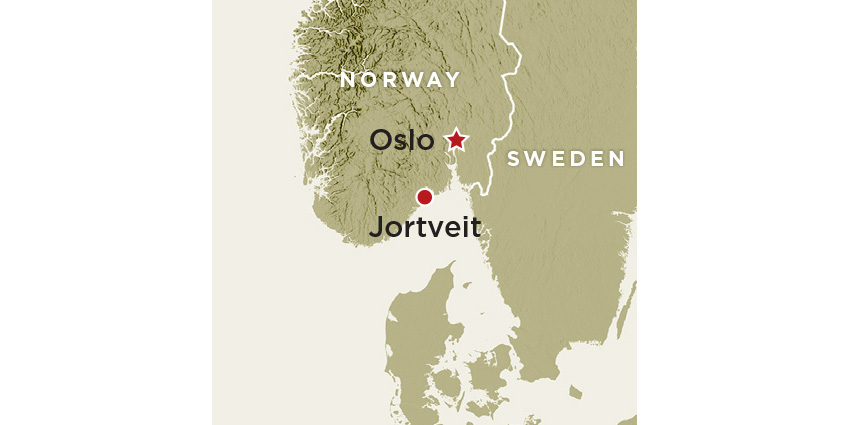 Norway Jortveit Map wide