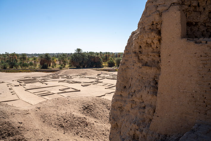 The ruins of Kerma are centered on the Deffufa, a massive mudbrick temple that now looms 65 feet above the site, but which in antiquity probably was even taller.