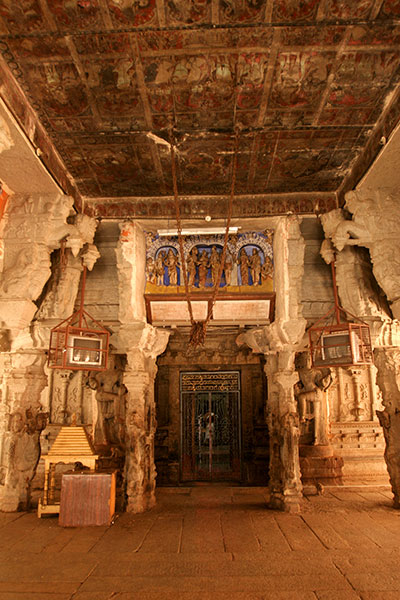 One of the central shrines of the Virupaksha Temple complex, which is dedicated to the god Shiva and predates the city of Vijayanagara by several hundred years