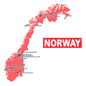 Archaeology Magazine Interactive Map Norway - Norway map